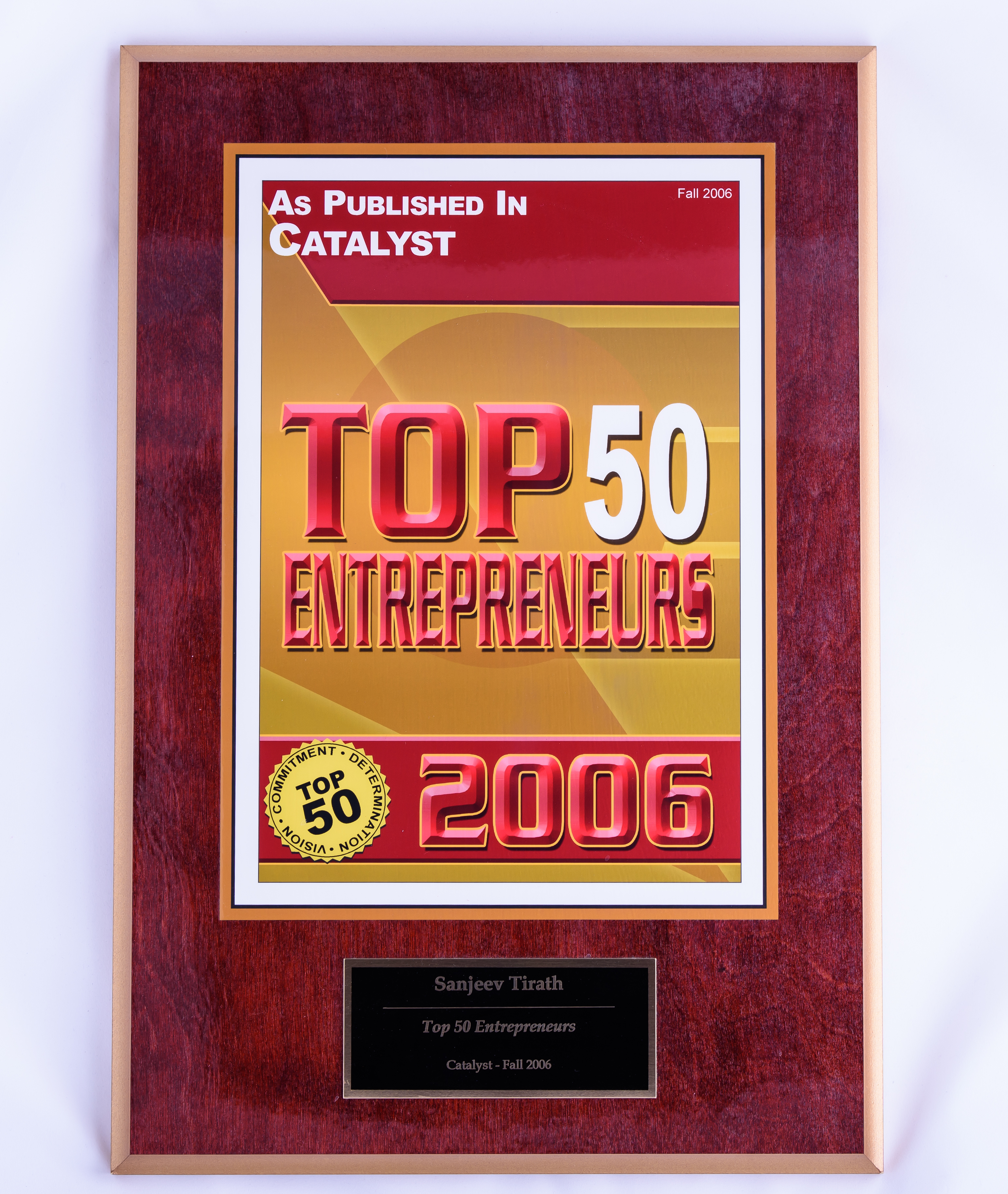 2006 Top 50 Entrepreneurs Catalyst