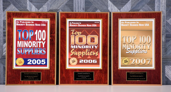 2005, 2006, 2007 Top 100 Minority Supplier